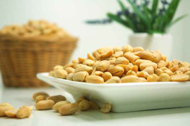 food plate nuts peanuts